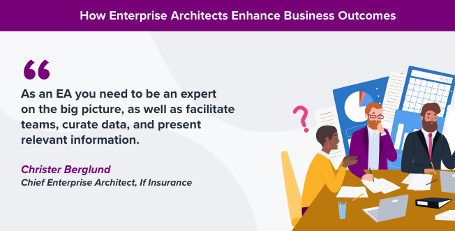 how enterprise architects enhance business outcomes quote